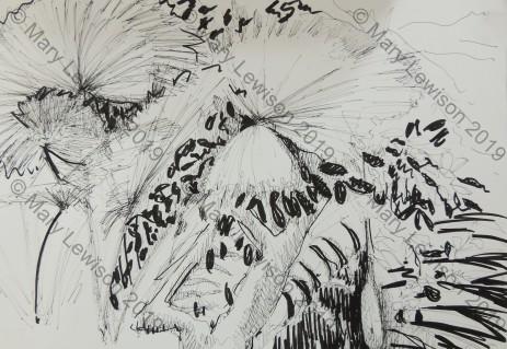 Botanical gardens sketch